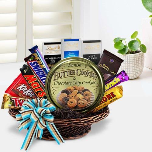 Wonderful Party Special Chocolate Hamper Basket