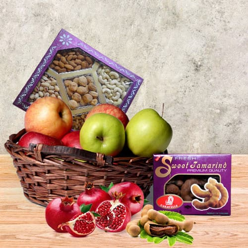 Order Fruit N Nut Gift Basket