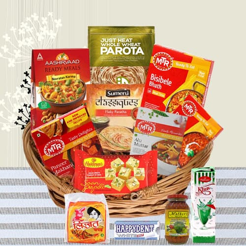 Exquisite Surprise Traditional North Indian Dinner Gift Basket