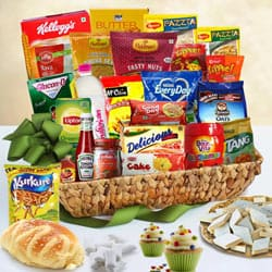 Brilliant Over the Top Breakfast Gift Basket
