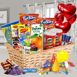 Dazzling Super Treat Basket of Goodies