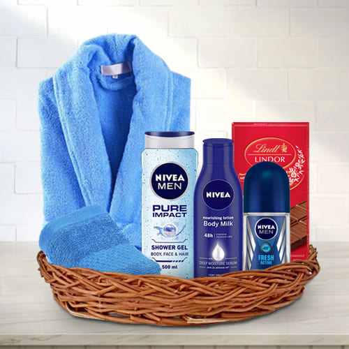 Refreshing Boost Gift Basket for Him