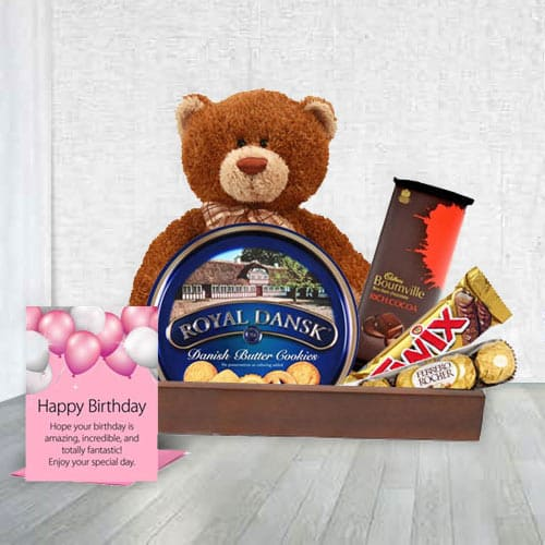 Birthday Essential Cookies N Chocolate Gift Hamper<br>
