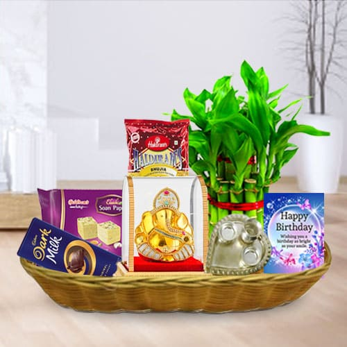 Deluxe Happy Birthday Gift Hamper for Him<br>