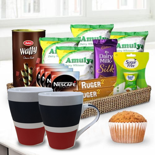 Delectable Coffee N Choco Time Gift Basket<br>