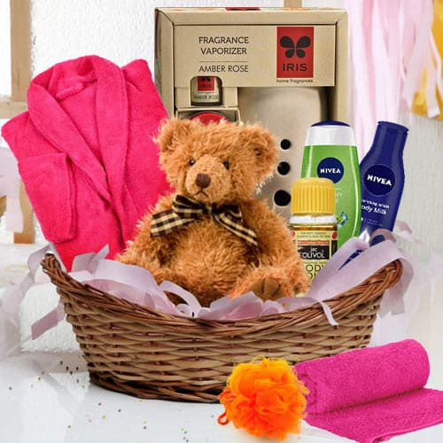 Glow with Luxury Bathing Gift Basket for Her