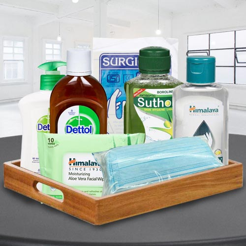 Brilliant Safety  N  Hygiene Gift Basket for All