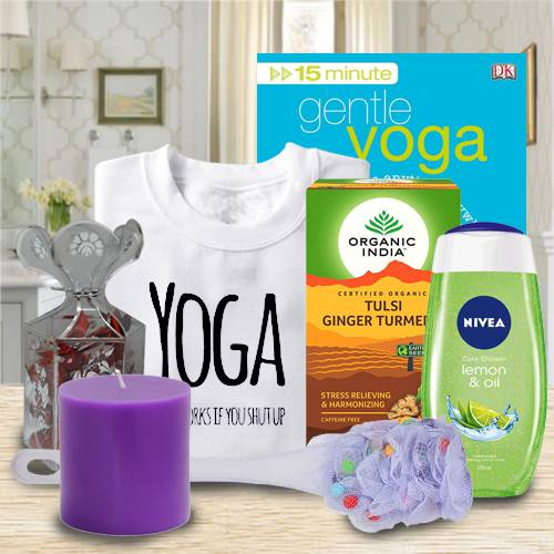 Dazzling Gift Basket of Yoga, Tea and Essentials