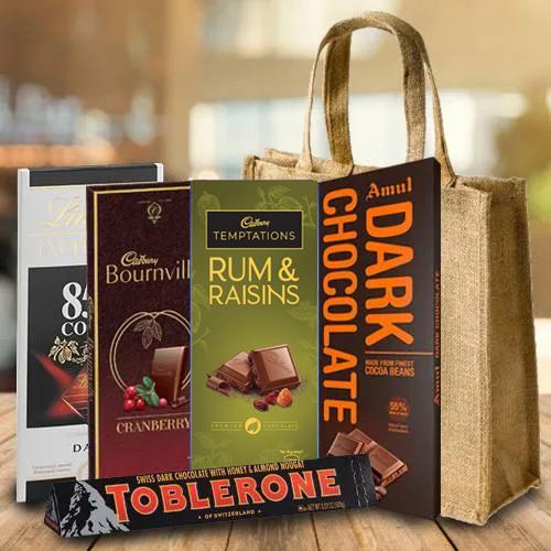 Delicious Dark Chocolates Gift Hamper
