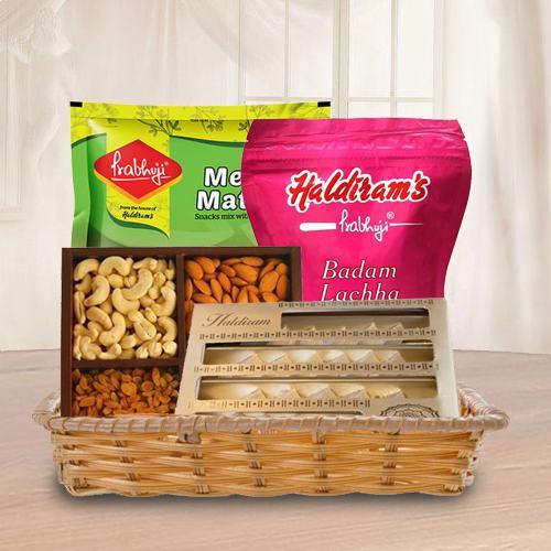 Sweets N Savory Basket Hamper