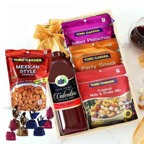 Delicious Mixed Dry Fruits N Grape Drink Gift Hamper