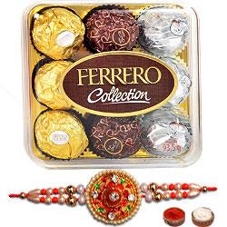 Ferrero Rocher 9 Pack & Rakhi Combo