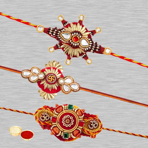 Ravishing Three Rakhi Set