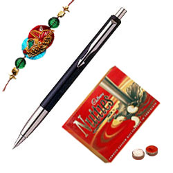 Parker Vector Standard Ball Pen with Rakhi and Roli Tilak Chawal