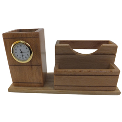 Exemplary 2-in-1 Clock and Pen Stand Set