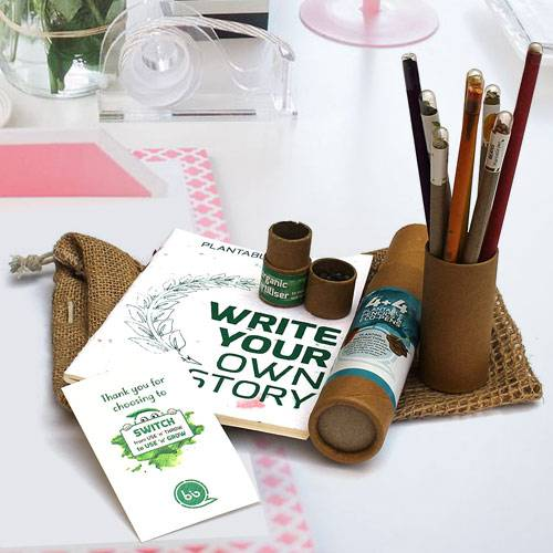 Exclusive Plantable Stationery Gift Jute Kit