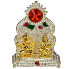 Send Silver Plated mandap with Golden Ganesh Laxmi Idol to Kerala