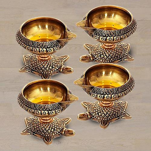 Marvelous Brass Diya Set