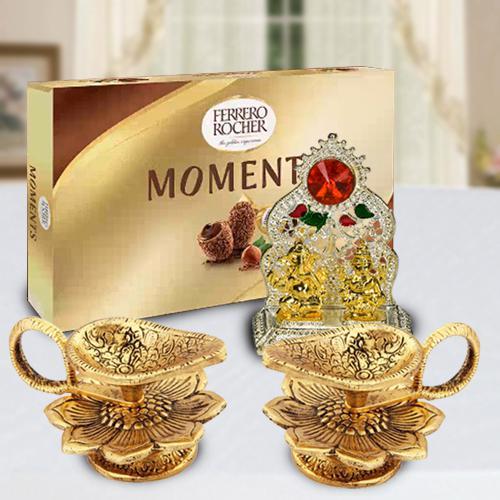 Marvelous Diya with Ferrero Rocher and Ganesh Laxmi Mandap