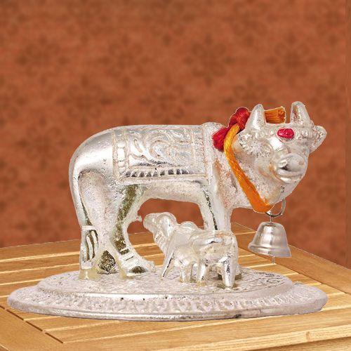 Exclusive Kamdhenu Cow N Calf Idol for Pooja Mandir