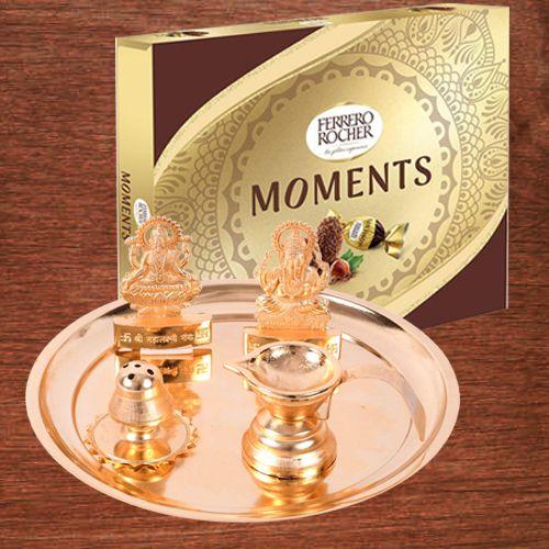 Auspicious Puja Samagri Set with Ferrero Rocher