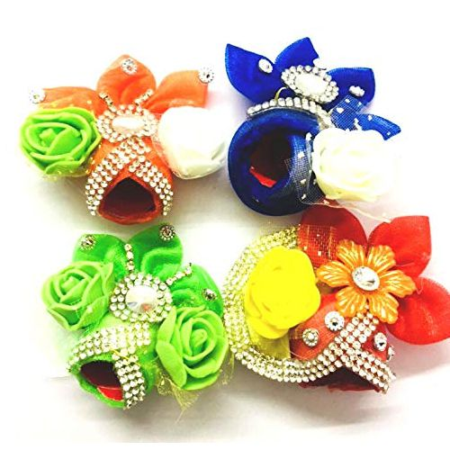 Set of 4 Marvelous Cotton Turbans for Laddu Gopal