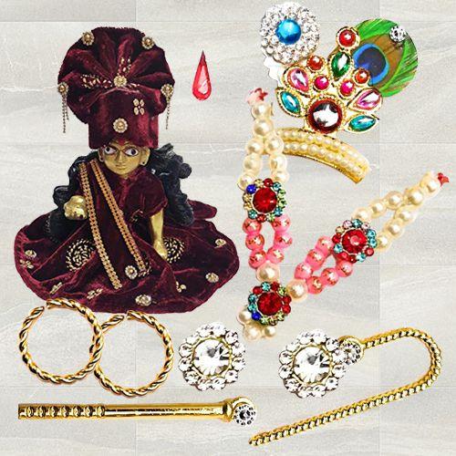 Marvelous Laddu Gopal Accessories Gift Combo