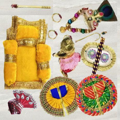 Marvelous Laddu Gopal Ji Shringar Combo Set