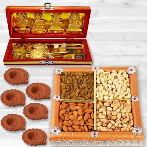 Auspicious Dhan Laxmi N Kuber Bhandari Yantra Combo Gift