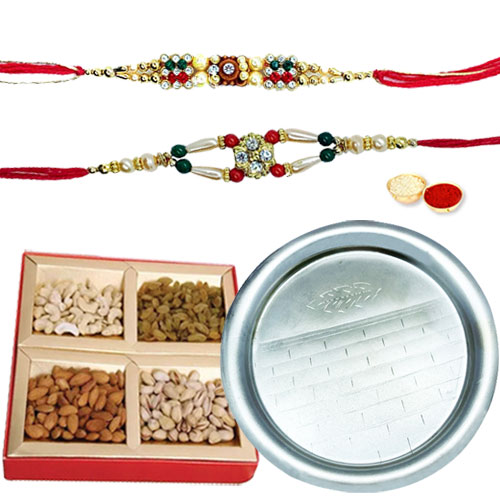 Arresting Hamper of Crispy Dry Fruits and Marvelous Pooja Thali