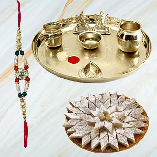 Amazing Raksha Bandhan Gift Band with Aarti Thali