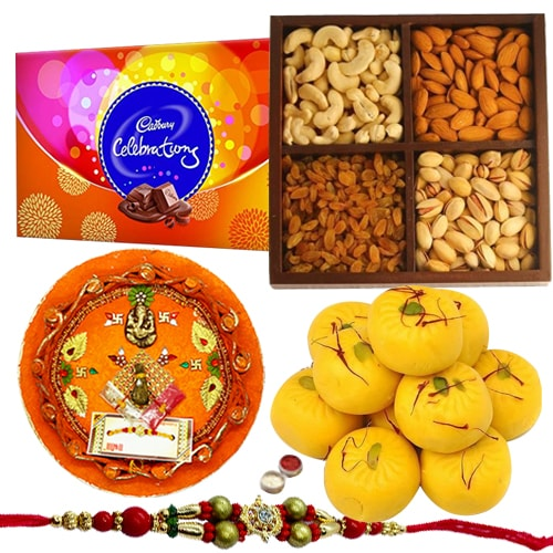 Smashing Rakhi Thali Hamper and Rakhi Celebration