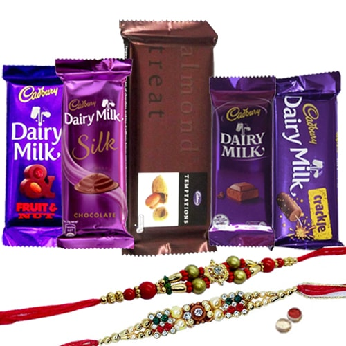 Enthralling Gift of Chocolaty Cadburys Chocolates Hamper