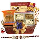 Yummy Rakhi Sweet and Salty Basket