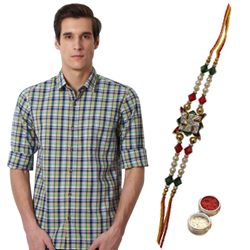 Tailored to Perfection Peter England Shirt and Rakhi Gift Pack