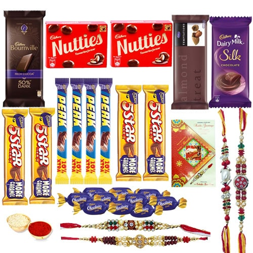 Lip-smacking Rakhi Delightful Chocolate Combo