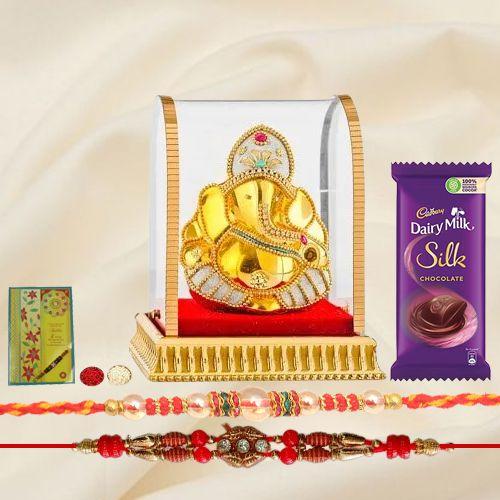Deity Ganesh Rakhi Set