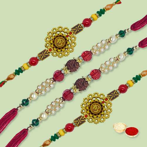 Lovely Exclusive Rakhi Thread with Blessings