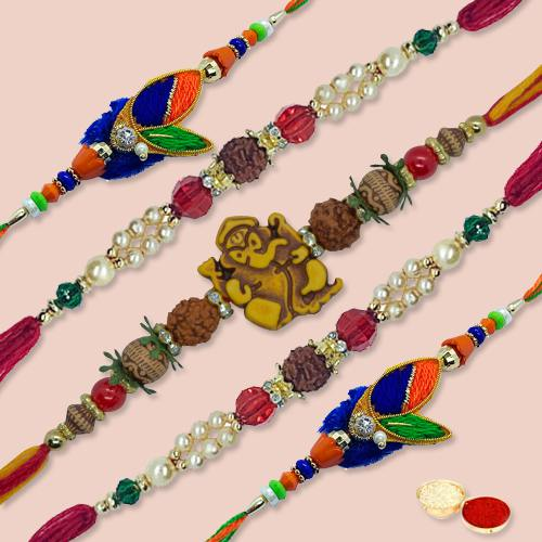 Auspicious Excelent Rakhi Thread with Blessings