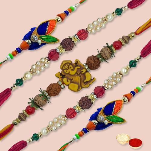 Auspicious Excelent Rakhi Thread with Blessings