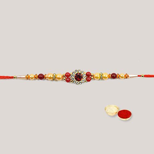 Trendy Rakhi with Pleasant Feelings