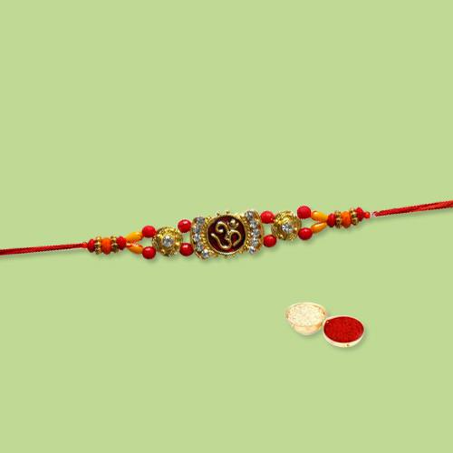 Designer Rakhi with Beautiful Knot
