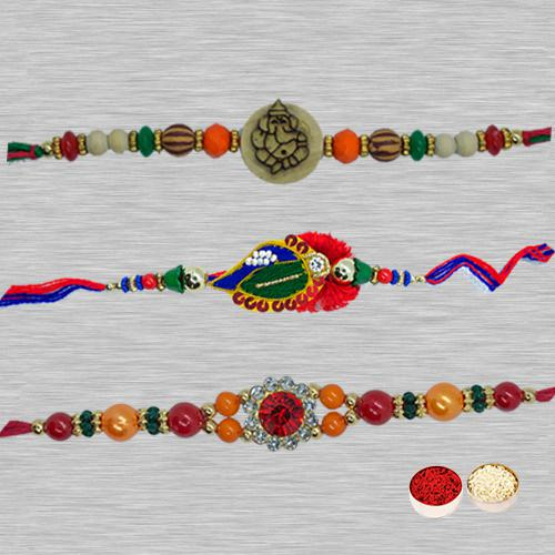 Designer Rakhi Set 4 Pcs