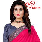 Delicate Glitter Pink Mono Net Silk Saree