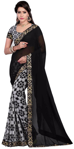 Style's Thrive Black Georgette Saree