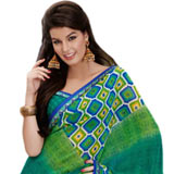 Breathtaking Green Faux Georgette Saree