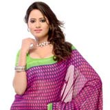 Exclusive Pink and Green Georgette Saree