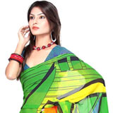 Breathtaking Multicolor Faux Georgette Saree