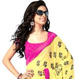 Adorning Yellow and Black Tissue Saree