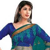 Extravagant Blue Net Saree